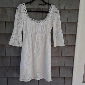 Laundry by Shelli Segal white crochet dress